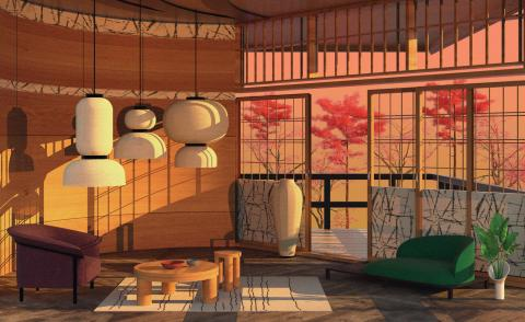 Tokyo story: our series of illustrated interiors is blossoming