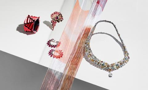 Gentle touch: there's a fine balance between haute joaillerie and light-as-air fabrics