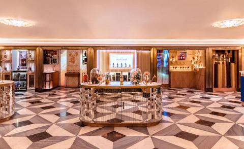 Inside the newly re-designed Wine Rooms at Harrods by Martin Brudnizki Design Studio