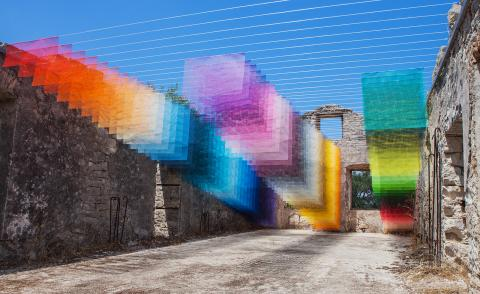 Quintessenz transforms 400-year-old Greek ruin with pixel-perfect installation