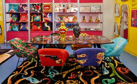 This maximalist design pop-up store in New York City is a surrealistic dream world