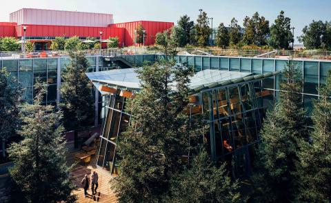 Frank Gehry's latest office building at Facebook's Menlo Park HQ opens
