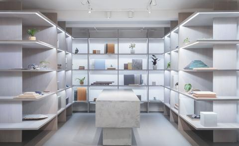 Dinesen opens colourful Aarhus showroom designed by David Thulstrup