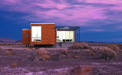 The Rondolino Residence in Nevada is a prototype for a modular pre-fab home