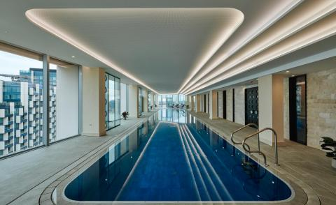 Tom Dixon creates spa at Greenwich Peninsula in London
