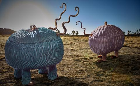 The Haas Brothers and L'Objet's ceramic creatures tell a surreal story in Joshua Tree