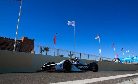 Geox Dragon Formula E car