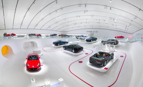 Installation view of 'Timeless Masterpieces' at Enzo Ferrari Museum