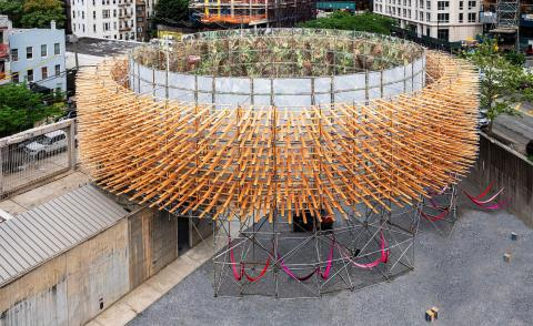 Pedro & Juana's junglescape installation for MoMA Young Architects Program opens