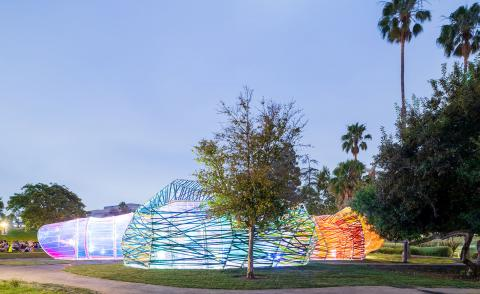Second Home brings SelgasCano Serpentine Pavilion to Los Angeles