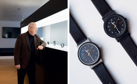 Time honoured: Braun designer Dietrich Lubs resurrects the classic AW 10 watch