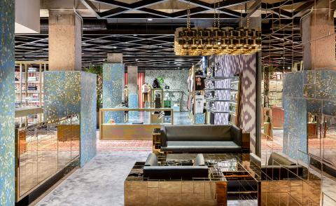 Flannels opens first London flagship, designed like a prismatic puzzle