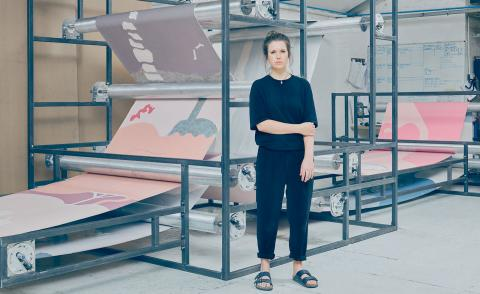 Holly Hendry with The Dump is Full of Images at her London studio