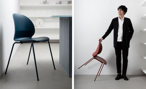 Nendo and Fritz Hansen design fully recycled plastic chair