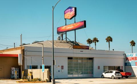 Doug Aitken's Culver City studio exterior and signage