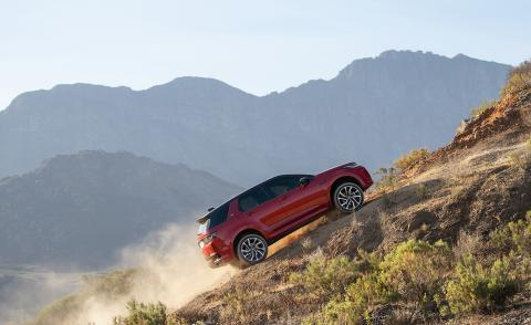 Range Rover Discovery Sport on a hill