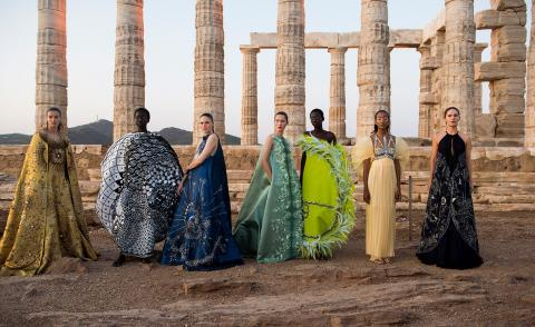 Greek legend: Mary Katrantzou hosts S/S 2020 show at Temple of Poseidon