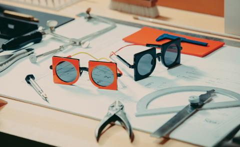 Square eyes: CoopDPS designs geometric eyewear for Max Mara