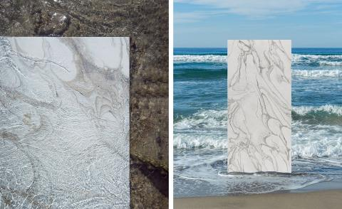 Marble on the beach