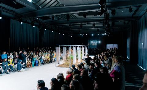 Snøhetta designs foraged show set for Holzweiler at Copenhagen Fashion Week