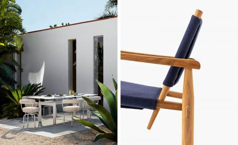 Cassina's first line of outdoor furniture has a midcentury edge
