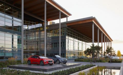 Jaguar Land Rover's Warwickshire facility features one of Europe's largest timber roofs