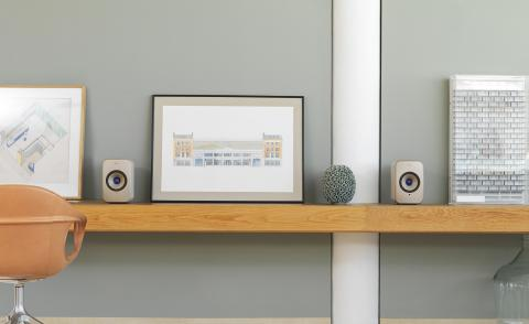 British speaker brand KEF keeps an eye on aesthetics and acoustics
