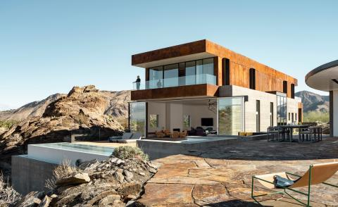 Ridge Mountain House by EYRC. Photography: Lance Gerber