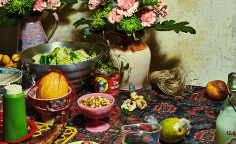 Photograph of Food Alter, from 'The Rituals Of Nourishment' series by Louise Hagger & Allie Wist