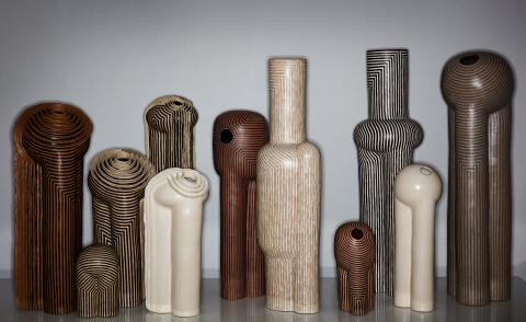 Jeremy Anderson unveils ceramics inspired by industrial architecture