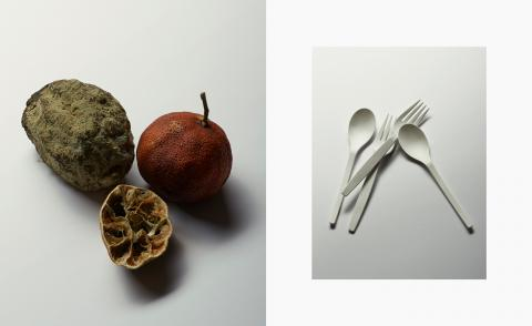 Benjamin Vigliotta's still life photography featuring dried fruit and cutlery