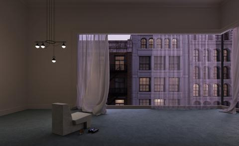 Hitchcock movies set the mood for this virtual interior design project