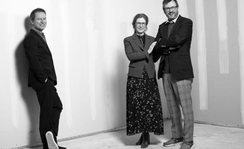 Hauser & Wirth partner and president Marc Payot, and co-founders Manuela and Iwan Wirth