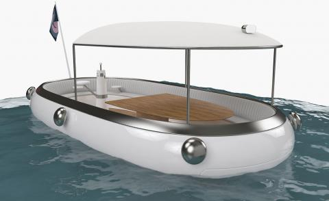 Michael Young designs electric boat concept to replace Hong Kong ferries