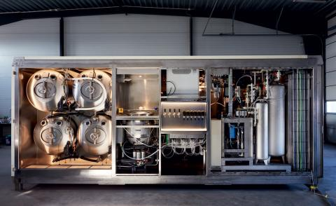 A solar-powered microbrewery has design-led energy in Sweden