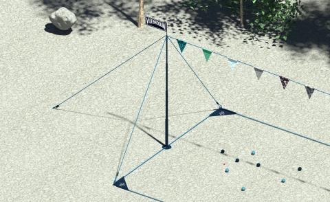 Portable boules court flies the flag for Francophile fun in the sun