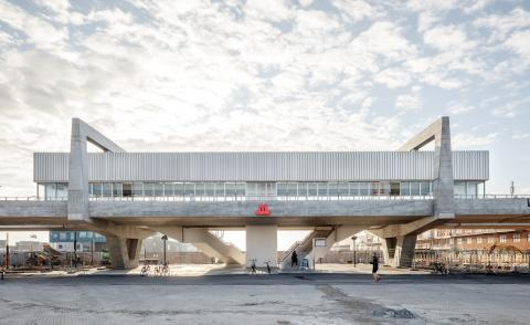 Copenhagen's new Metro station reflects its brutalist dockland location