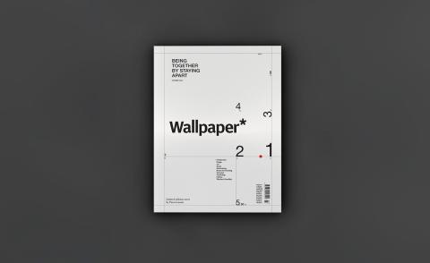 Limited-edition cover of Wallpaper* Summer 2020 issue, by Piero Lissoni