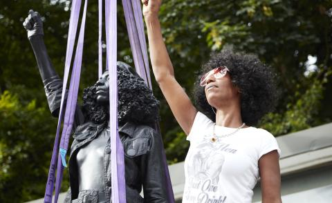 Marc Quinn and Jen Reid's Bristol monument to anti-racism removed