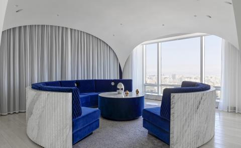 Adam Sokol carves out a dreamy domed interior for a Beijing apartment