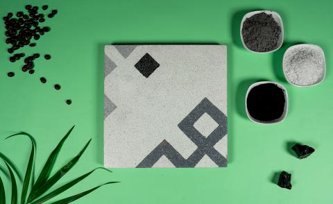 Tiles made from carbon emissions