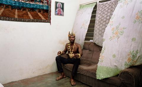 Deana Lawson's photograph, Chief, which is part of the American artist's show at Kunsthalle Basel