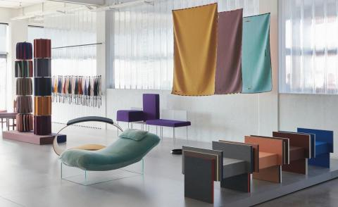 Talent and textiles come together in a new project by Kvadrat Febrik