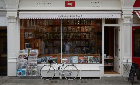 Good news: Sandeep Garg's London newsagents reopens