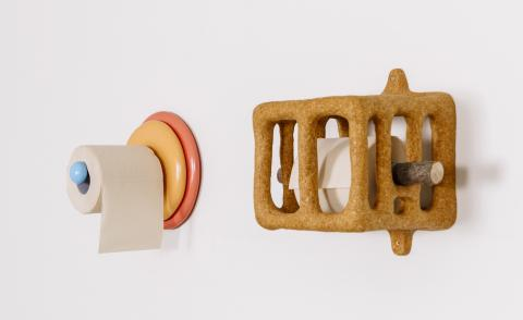 Roll up: unravel these inventive toilet roll holder designs