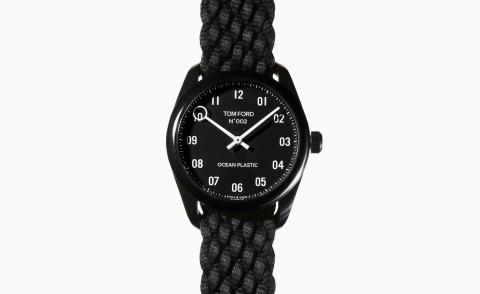 Tom Ford unveils a watch made entirely from ocean plastic