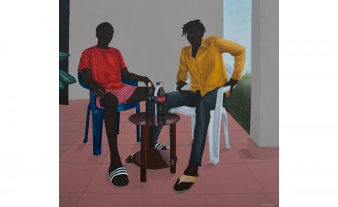 Eniwaye Oluwaseyi,A moment in time (family house), 2020