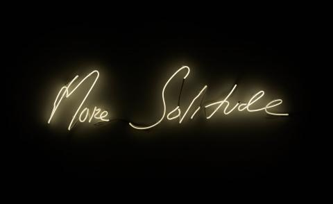 Tracey Emin, More Solitude, 2014. Neon at the Royal academy of arts Edvard Munch