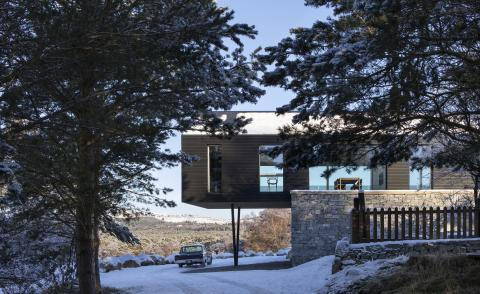 Lower Tullochgrue House cantilevers out over the landscape