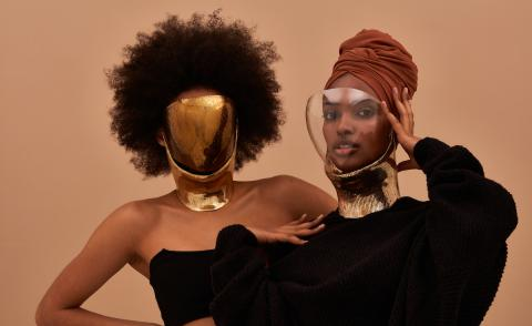 Face masks by Tosin Oshinowo and Chrissa Amuah for Lexus